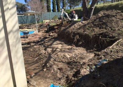 Gardengigs -BeforeTorrens Projects Leveling the Soil