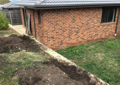 Gardengigs - Bonner Before Landscaping Back Garden and House