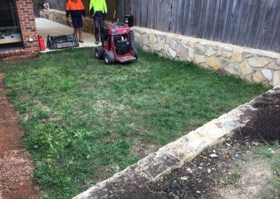 Gardengigs - Bonner Before Landscaping Full View of Back Garden