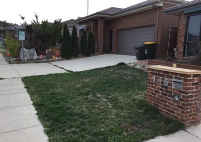 Gardengigs - Bonner Before Landscaping Grass