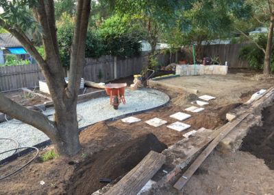 Gardengigs - Cook Landscaping Project Before Deck Preparation